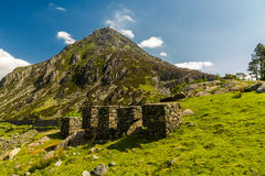 Pen yr Ole Wen mountain from Idwal Cottage. Stock Image