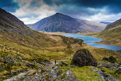 Pen yr Ole Wen overlooking Llyn Idwal, Snowdonia Royalty Free Stock Photography