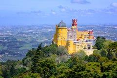 Pena宫殿, sintra,葡萄牙 免版税库存图片