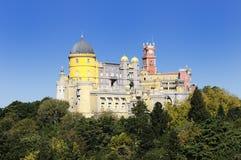 Pena castle. Pena National Palace in Sintra, Portugal (Palacio Nacional da Pena Royalty Free Stock Images