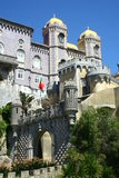 Pena castle in Sintra Stock Image