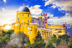 Pena castle in Sintra, Portugal Royalty Free Stock Photo