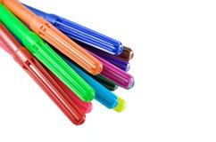 Pena colorida isolada no fundo branco Fotos de Stock Royalty Free