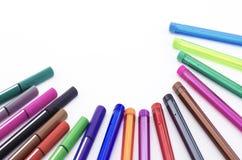 Pena colorida isolada no branco Foto de Stock Royalty Free
