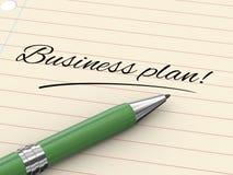 pena 3d no papel - plano de negócios Imagem de Stock