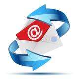 Pena da extremidade do envelope Imagens de Stock Royalty Free