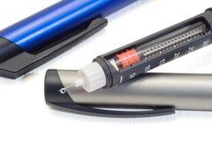 Pena da insulina Foto de Stock Royalty Free