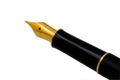 Pena da tinta, trajeto de grampeamento Fotos de Stock Royalty Free