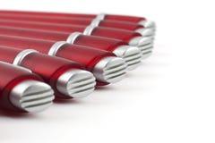 Pena de ballpoint vermelha automática fotografia de stock
