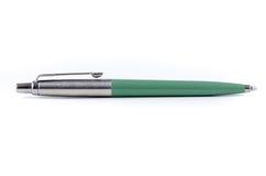 Pena de esferográfica verde Fotografia de Stock