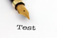 Pena de fonte no teste Imagens de Stock