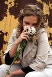Pena de la muchacha Imagen de archivo libre de regalías
