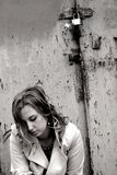 Pena de la muchacha Imagen de archivo