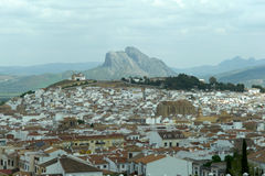Pena de los enamorados and Antequera. Stock Photography