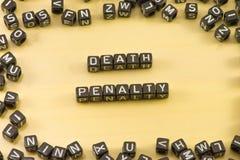 A pena de morte da palavra fotos de stock