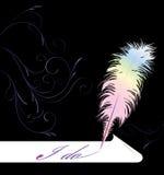 Pena de Quill ilustração royalty free