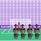 Pena del club del fútbol de Ecuador en un estadio stock de ilustración