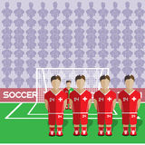 Pena del club del fútbol de Suiza en estadio libre illustration