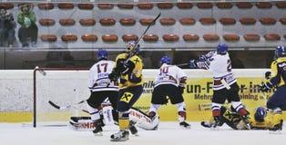 Pena del juego de hockey Fotografía de archivo