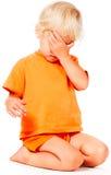 Pena del pequeño niño Imagen de archivo libre de regalías