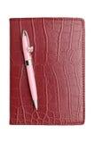Pena do caderno e de esferográfica imagem de stock royalty free