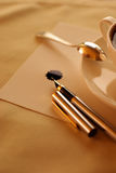 Pena do café e de desenho Foto de Stock Royalty Free