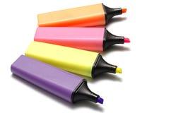 Pena do highlighter Fotografia de Stock