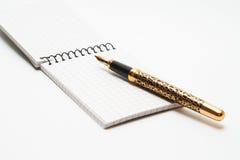 Pena dourada Imagem de Stock