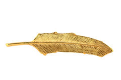 Pena dourada Imagens de Stock