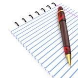 Pena e caderno ilustração stock