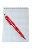 Pena e caderno Foto de Stock