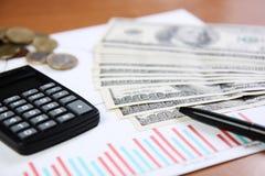 Pena e calculadora Fotos de Stock Royalty Free