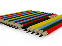 Pena e lápis Fotografia de Stock