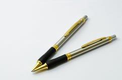 Pena e lápis Imagens de Stock