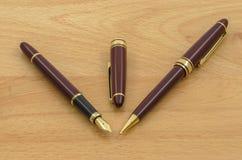 A pena e o lápis de fonte ajustaram 03 Foto de Stock Royalty Free