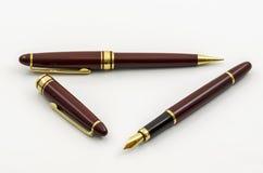 A pena e o lápis de fonte ajustaram 06 Imagem de Stock Royalty Free