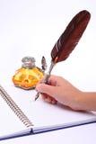 Pena e tinta Foto de Stock