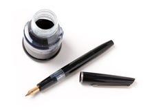 Pena e tinta de fonte Fotografia de Stock