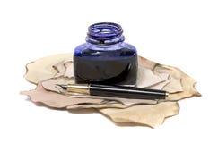 Pena e tinta de fonte Fotos de Stock
