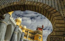 Pena - el palacio en Sintra, Portugal Imagen de archivo