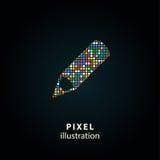 Pena - ilustração do pixel Imagens de Stock