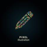 Pena - ilustração do pixel Fotografia de Stock Royalty Free
