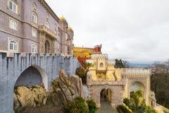 Pena Krajowy pałac, sławny punkt zwrotny w Sintra, Portugalia Obrazy Royalty Free