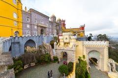 Pena Krajowy pałac, sławny punkt zwrotny w Sintra, Portugalia Fotografia Royalty Free