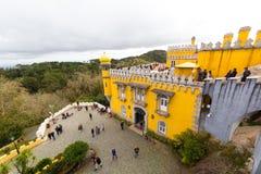 Pena Krajowy pałac, sławny punkt zwrotny w Sintra, Portugalia Obraz Stock