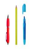 Pena, lápis, marcador Imagens de Stock