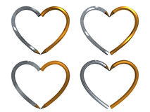 Pena na forma do coração isolada Imagem de Stock