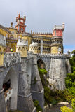 Pena Nationaal Paleis in Sintra, Lissabon, Portugal stock afbeelding