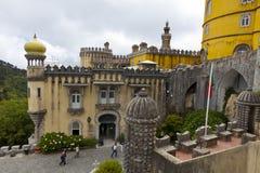 Pena Nationaal Paleis in Sintra, Lissabon, Portugal royalty-vrije stock fotografie
