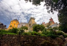 Pena National Palace. In Sintra, Portugal is a part of the Cultural Landscape of Sintra, recognised as UNESCO World Heritage Site Royalty Free Stock Photos